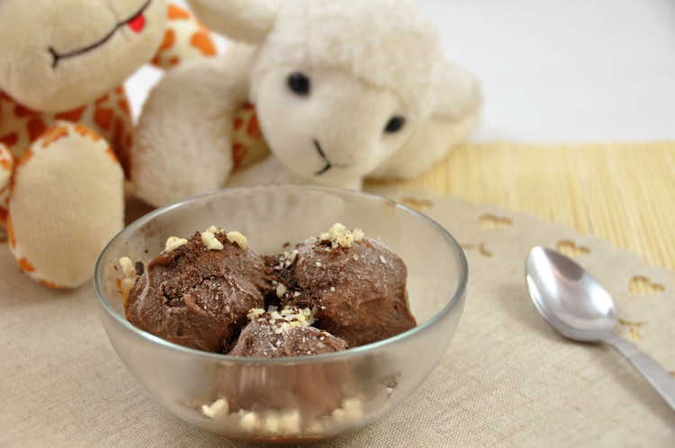 Helado de chocolate ideal para niños